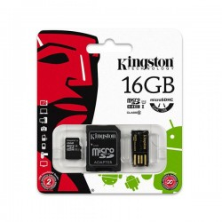Mobility/Multi Kit microSD 16GB + Adaptador SD + Adaptador USB