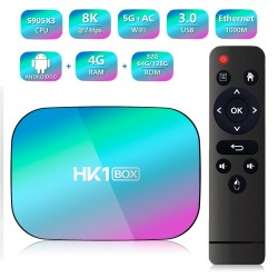 BOX TV HK1 Android 9.0 8K 4GB RAM 64GB Emmc